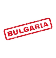 Bulgaria Text Rubber Stamp vector image