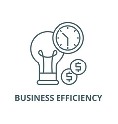business efficiency line icon linear vector image