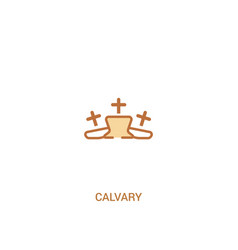 Calvary concept 2 colored icon simple line vector