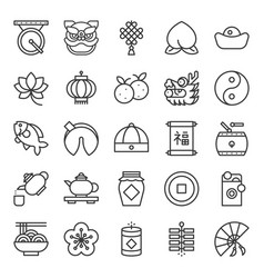 Chinese new year outline icon vector