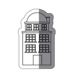 city buildings icon image vector image