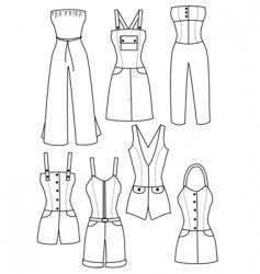 Clothes women vector