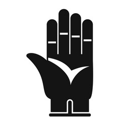 construction glove icon simple style vector image