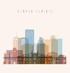 Corpus christi state texas skyline vector