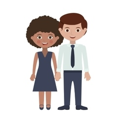 Couple adults with hands entwined vector