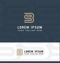 creative letter b inside s logo letter sb logo vector image