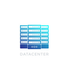 datacenter icon on white vector image