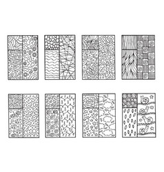 Doodle windows - coloring page for adults vector