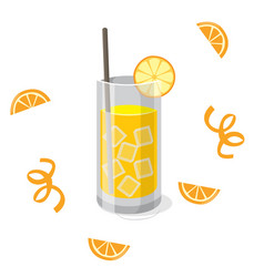 drink orange juice orange background image vector image