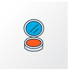 face powder icon colored line symbol premium vector image