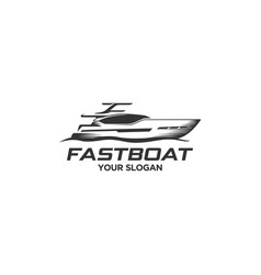 fast boat vector image