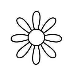 Figure cute flower with petals icon vector