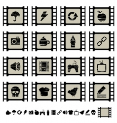 Film cell icons vector
