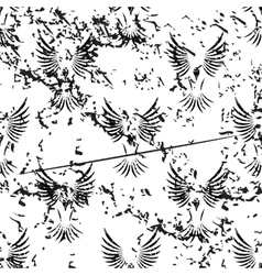 Flying bird pattern grunge monochrome vector