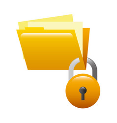 folder document with padlock isolated icon vector image