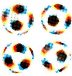 football soccer balls vector image