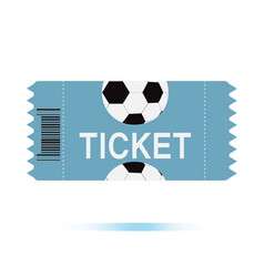 football tickets icon on white background vector image