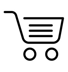 full shopping cart line icon market basket vector image