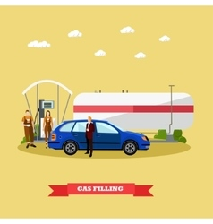 Gas station concept banners vector
