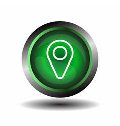 Geo pointer location pin icon vector