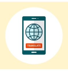 Globe on smartphone screen vector