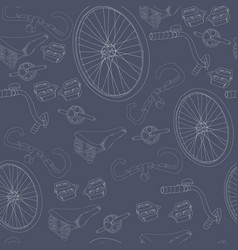 Hand drawn bicycle seamless pattern vector