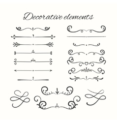 Hand drawn divders set Ornamental decorative vector image