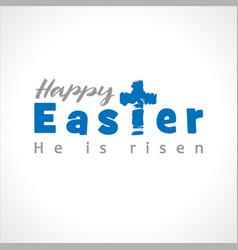 happy easter cross script vector image