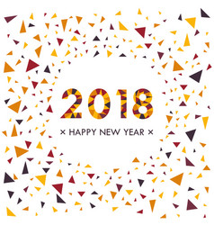 Happy new 2018 year background colorful christmas vector