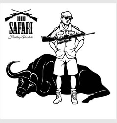 hunting trophy antelope - african safari vector image