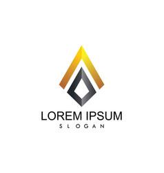 letter a 3d company logo vector image