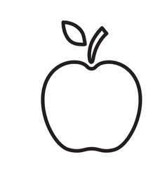Line apple icon isolated on vector