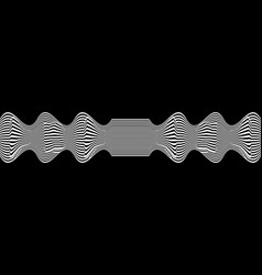 line waves illusion optical black and white vector image