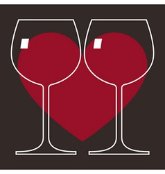 Love Wine Glasses vector