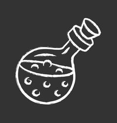 magic potion bottle chalk icon alchemy vector image