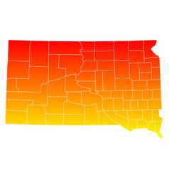 Map of south dakota vector