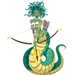 Medusa on White vector image