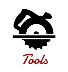 Miter saw with handle black silhouette vector image