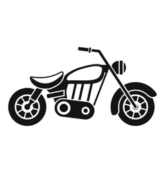 Motorcycle icon simple style vector