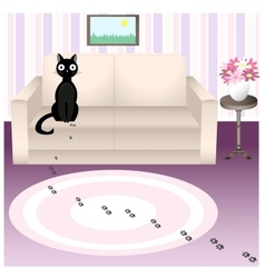 Naughty cat 4 vector image