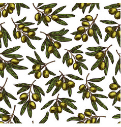 Olives pattern seamless background vector