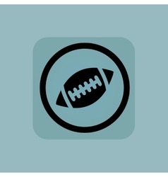 Pale blue rugby sign vector image