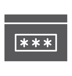 Password glyph icon security and access browser vector