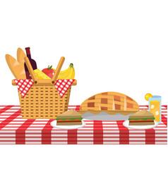 Picnic food cartoon vector