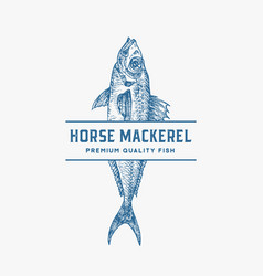 premium quality horse mackerel abstract vector image