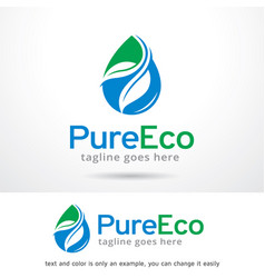 pure eco logo template vector image