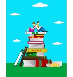 Read books concept vector