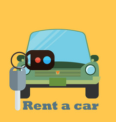 rent a car design over yellow background vector image