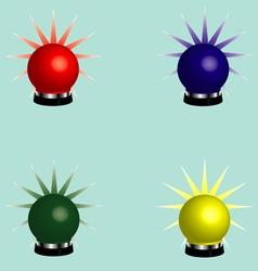 Rotating beacons vector