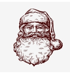 Santa Claus sketch vector image